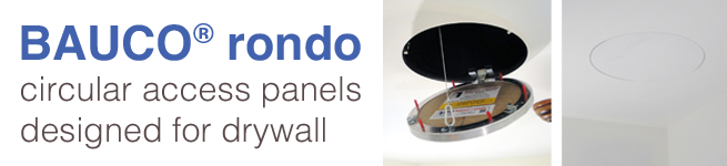 bauco rondo - circular access panel for GWB and drywall - various 2019