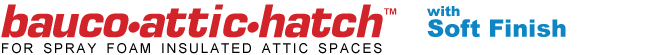 bauco attic hatch logo soft finish