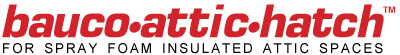 bauco attic hatch logo spray foam