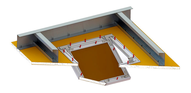 bauco plus II access panel framing view