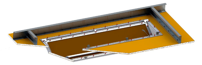 custom bauco plus II access panel framing view
