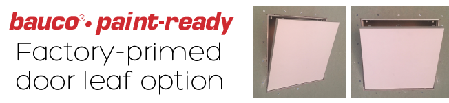 bauco paint-ready - option for drywall inlay access panels - downloads 2019