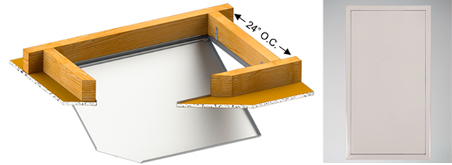 attic hatch with bauco softline diagram